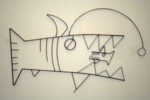 anglerfish sculpture Alton