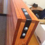 custom cubicle divider commercial strap detail