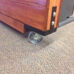 custom cubicle divider commercial wheel detail