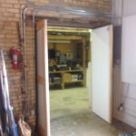 custom door commercial warehouse space