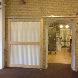 custom sliding door commercial warehouse space