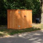 custom wood dumpster enclosure