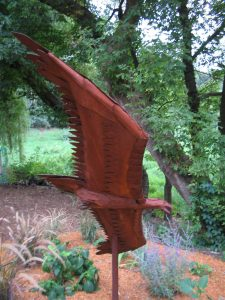 steel eagle sculpture