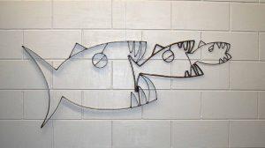 food chain metal fish sculpture Alton