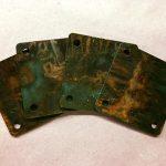 square gusset metal acid etch coasters