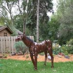 steel horse sculpture