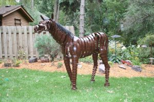 steel horse sculpture