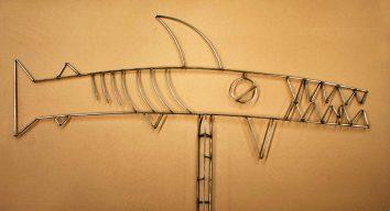 land shark fish sculpture Alton
