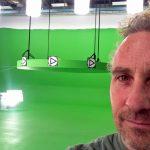 large green screen set