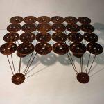 ilypad steel coffee table acid etch texture