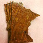 state of Minnesota metal acid etch coasters