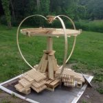 Peshtigo wood kinetic fire sculpture