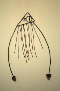 metal squid sculpture Alton