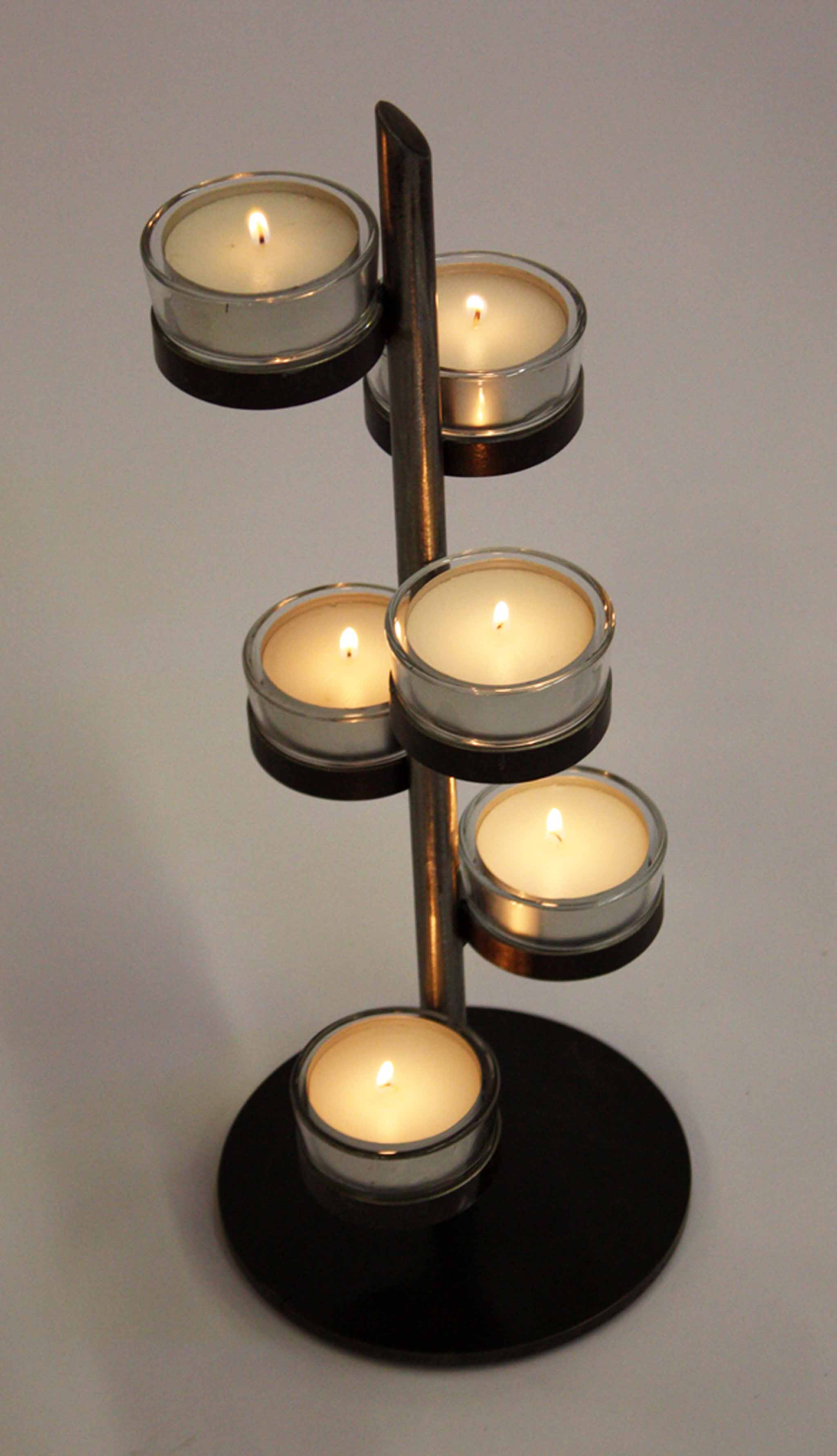 metal modern tabletop candelabra