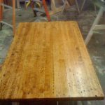 truss table reclaimed wood and metal